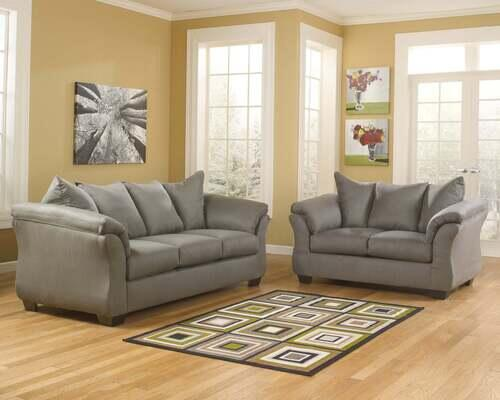 Signature Design by Ashley Darcy-Cobblestone Sofa and Loveseat display image