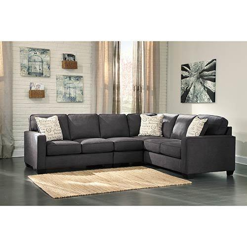 Signature Design by Ashley Alenya-Charcoal 3-Piece Sectional