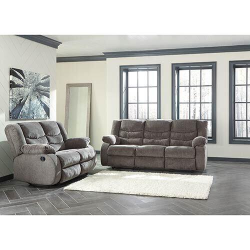 Signature Design by Ashley Tulen-Gray Reclining Sofa and Loveseat