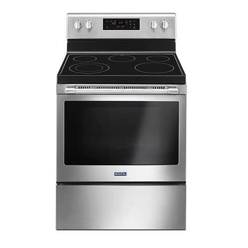 Maytag Stainless 5.3 Cu. Ft. Smooth-Top Electric Range display image