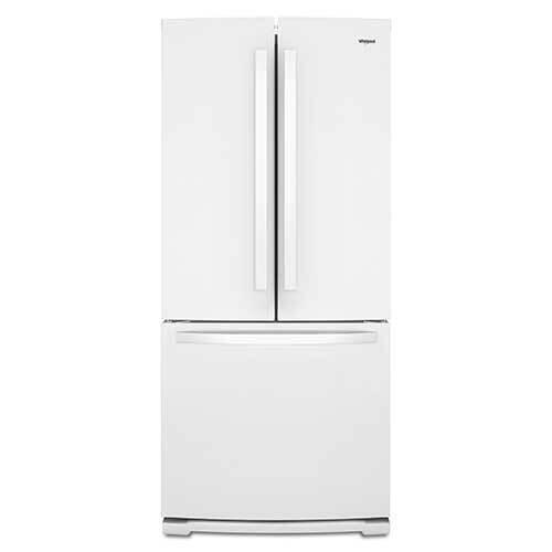 Whirlpool White 20 Cu. Ft. French Door Bottom Mount Refrigerator