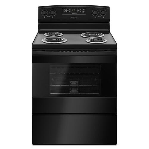 Amana Black 4.8 Cu. Ft. Coil Top Electric Range display image
