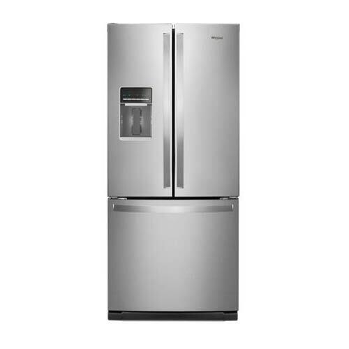 whirlpool-stainless-20-cu-ft-french-door-bottom-mount-refrigerator-with-water-dispenser