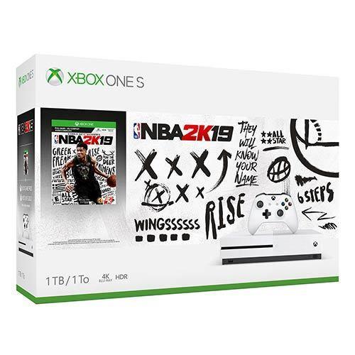 Microsoft Xbox One S 1tb Video Game Console Nba 2k19
