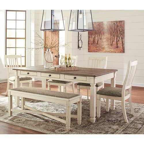 "Signature Design by Ashley ""Bolanburg"" 6-Piece Dining Set  display image"