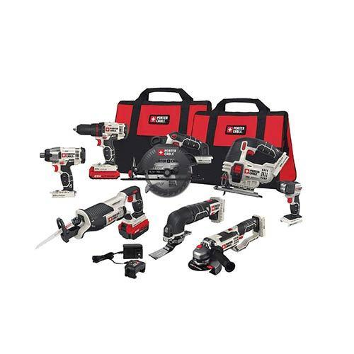 Porter-Cable 8-Piece 20V-Max Cordless Tool Kit Combo