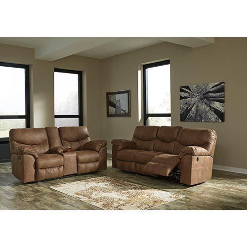 Signature Design by Ashley Boxberg-Bark Reclining Sofa and Loveseat display image