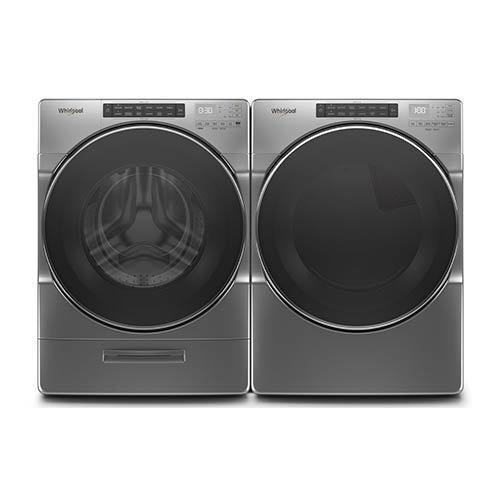 Whirlpool Chrome 4.5 Cu. Ft. Washer and 7.4 Cu. Ft. Gas Dryer