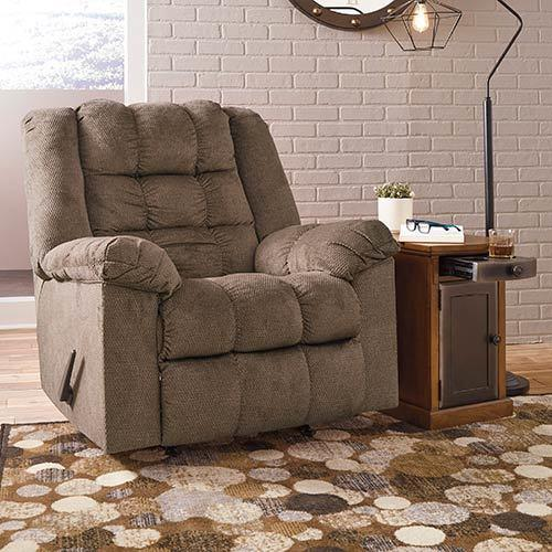"Signature Design by Ashley ""Drakestone-Autumn"" Heat and Massage Rocker Recliner"