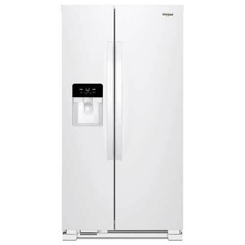 Whirlpool White 21 Cu. Ft. Side-by-Side Refrigerator  display image