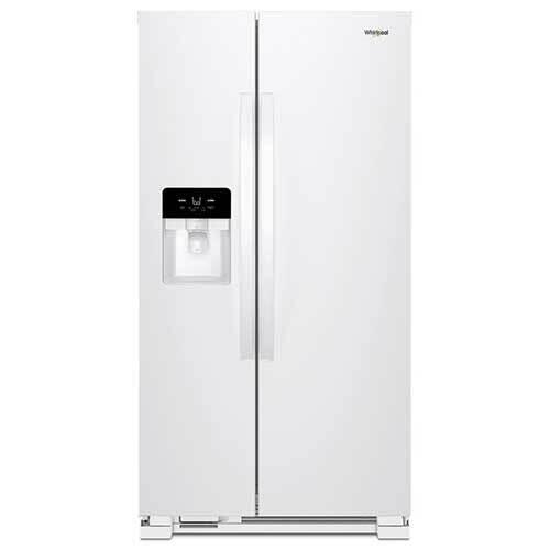 Whirlpool White 21 Cu. Ft. Side-by-Side Refrigerator