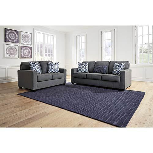 Benchcraft Kiessel Nuvella®-Steel Sofa and Loveseat display image