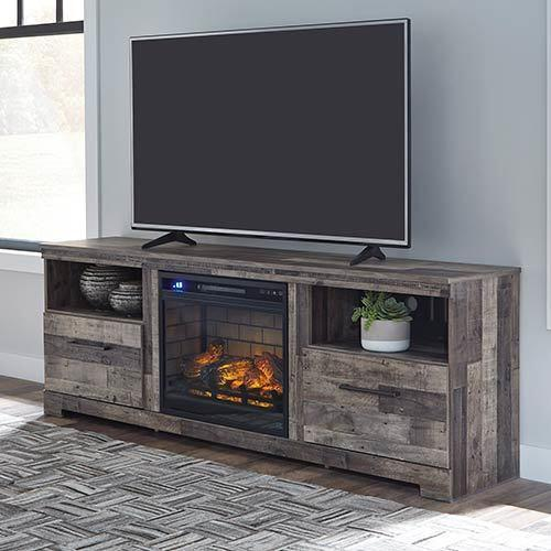 Signature Design by Ashley Derekson 71 Inch Electric Fireplace TV Stand