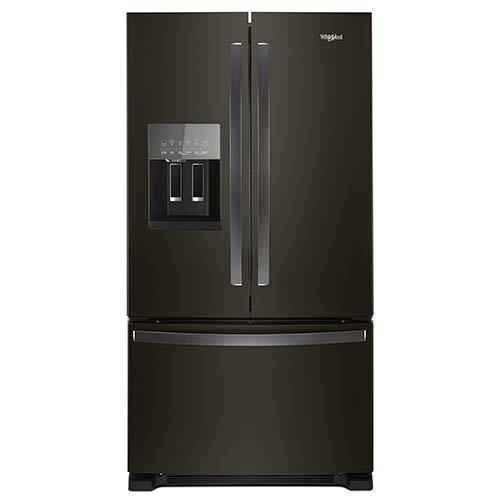 Whirlpool Black 25 Cu. Ft. French Door Refrigerator  display image