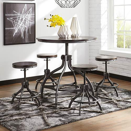 "Signature Design by Ashley ""Odium"" 5-Piece Counter Height Dining Set"