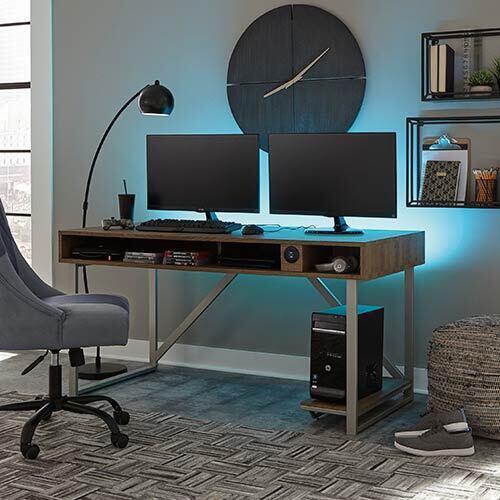 Signature Design by Ashley Barolli-Brown Gaming Desk