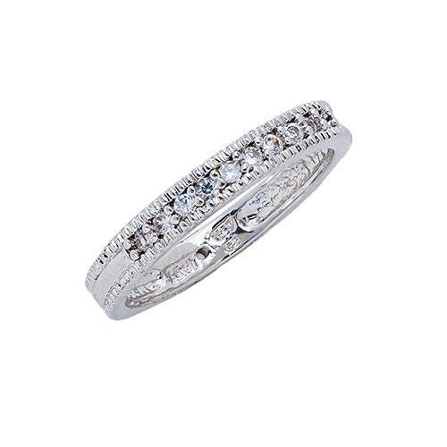 Womens 10K Gold 1/8 CT.T.W. Diamond Wedding Band