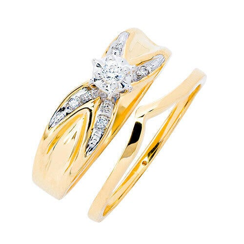 womens-10k-gold-diamond-accent-engagement-and-wedding-set