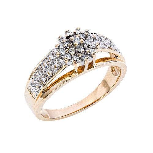 Womens 10K White Gold 1/6 CT.T.W. Diamond Fashion Ring