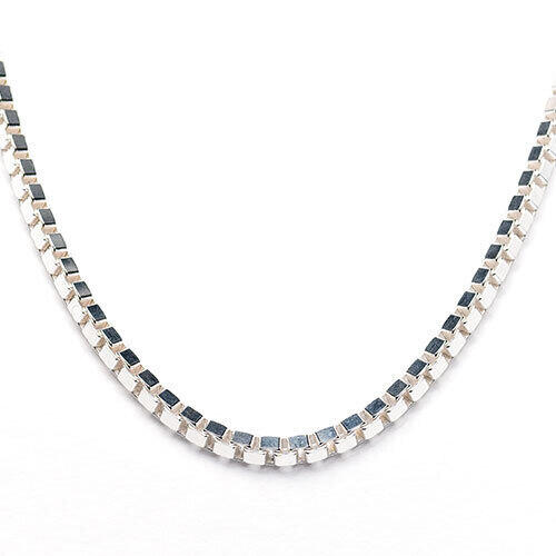 """Sterling Silver 4.5mm 24"""" Box Chain  display image"""