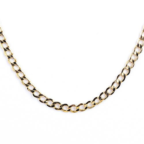 10k-gold-525-mm-diamond-cut-22-semi-solid-curb-chain