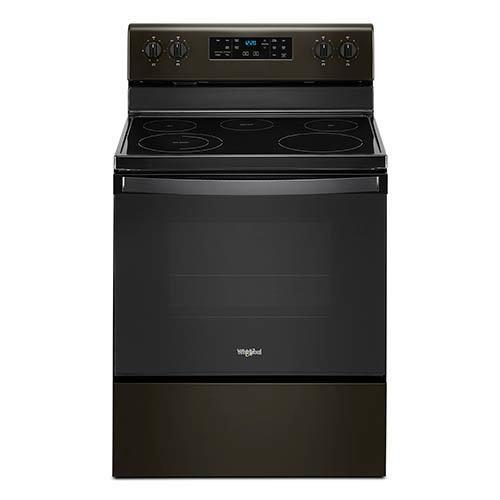 Whirlpool Black Stainless 5.3 Cu. Ft. Smooth-Top Freestanding Electric Range display image