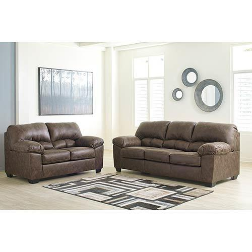 Signature Design by Ashley Barberlon-Chocolate Sofa and Loveseat