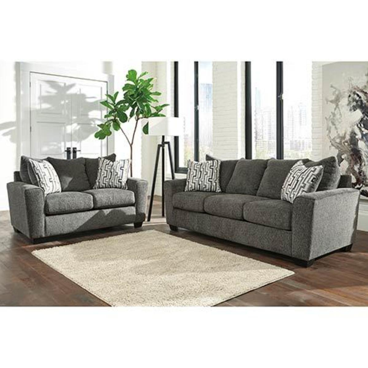 "Signature Design by Ashley ""Twombley-Gray"" Sofa and Loveseat"