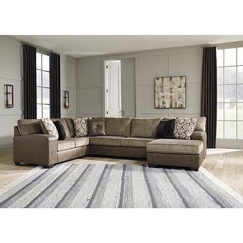 Benchcraft Abalone Chocolate 3-Piece Sectional display image
