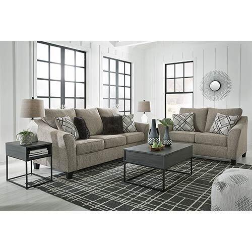 Benchcraft Barnesley-Platinum Sofa and Loveseat