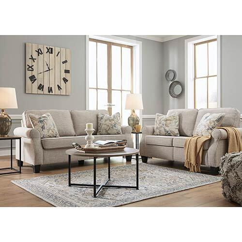 Signature Design by Ashley Alessio-Beige Sofa and Loveseat