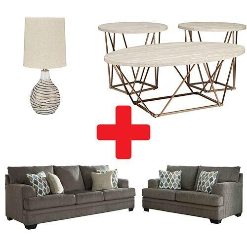 Signature Design by Ashley Dorsten-Slate 7-Piece Living Room Bundle