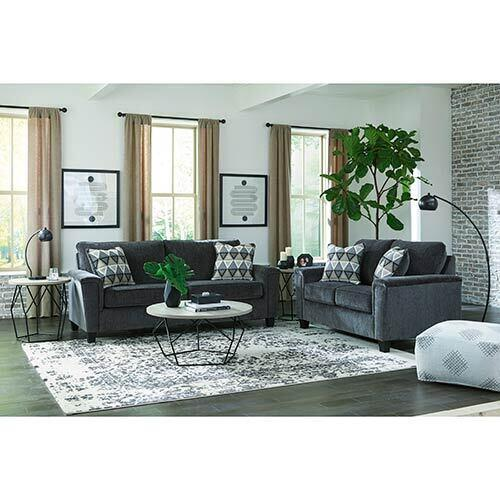Signature Design by Ashley Abinger-Smoke Sofa and Loveseat display image