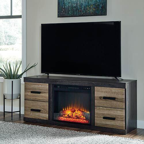 Signature Design by Ashley Harlinton 60 Inch Electric Fireplace TV Stand