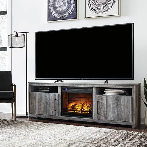 Signature Design by Ashley Baystorm 74 Inch Electric Fireplace TV Stand