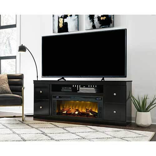 Signature Design by Ashley Shay 72 Inch Electric Fireplace TV Stand