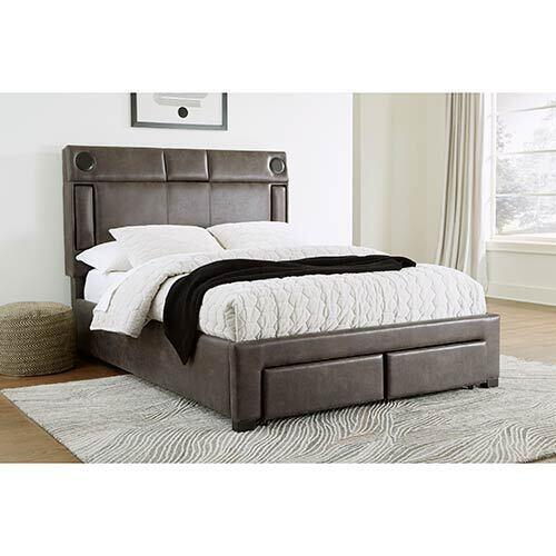 Signature Design by Ashley Mirlenz Queen Storage Bed with Speakers