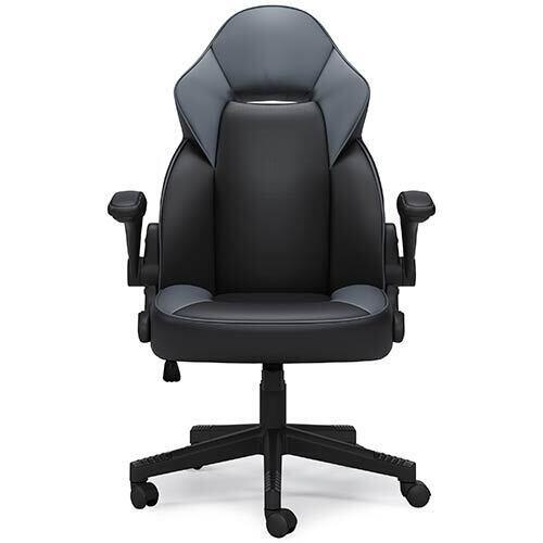Signature Design by Ashley Lynxtyn Black Swivel Home Office Desk Chair
