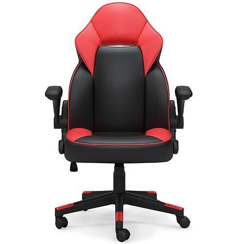 Signature Design by Ashley Lynxtyn Red Swivel Home Office Desk Chair