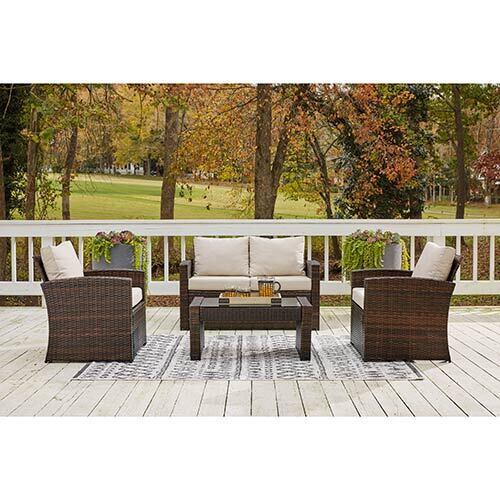 Signature Design by Ashley East Brook 4-Piece Outdoor Furniture Set