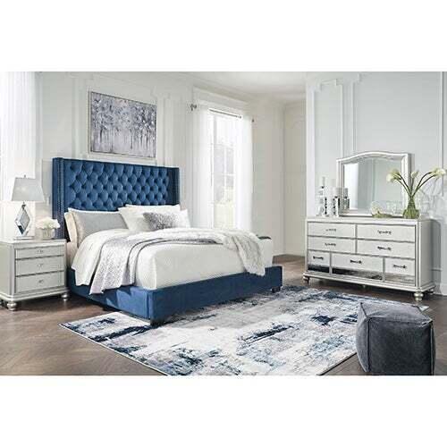 Signature Design by Ashley Coralayne Blue 5-Piece Queen Bedroom Set