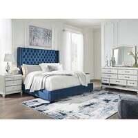 Signature Design by Ashley Coralayne Blue 5-Piece King Bedroom Set
