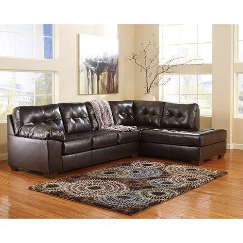 "Signature Design by Ashley ""Alliston DuraBlend®-Chocolate"" 2-Piece Sectional"