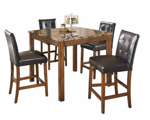 "Signature Design by Ashley ""Theo"" 5-Piece Counter Height Dining Set display image"