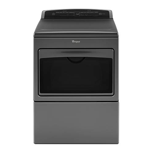 Whirlpool Chrome 7.4 Cu. Ft. Electric Dryer with Hamper Door