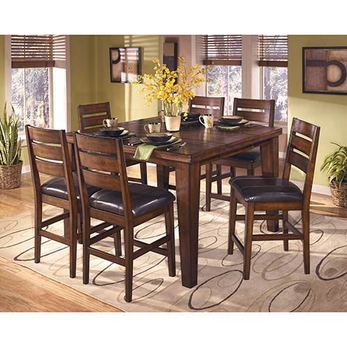 "Signature Design by Ashley ""Larchmont"" 7-Piece Counter Height Dining Set"