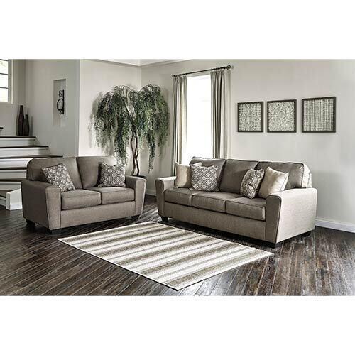 Benchcraft Calicho-Cashmere Sofa and Loveseat