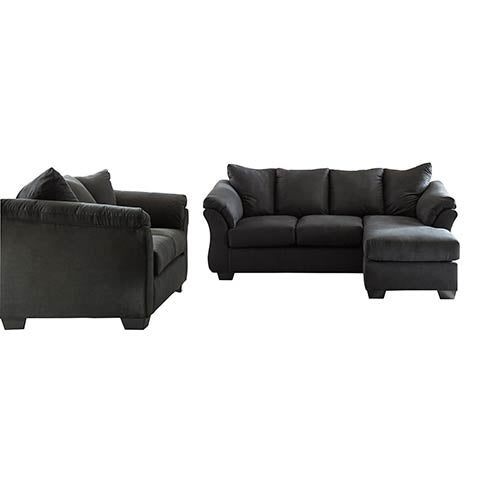 Wondrous Signature Design By Ashley Darcy Black Sofa Chaise And Loveseat Gmtry Best Dining Table And Chair Ideas Images Gmtryco