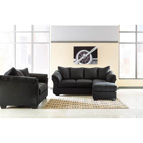 Signature Design by Ashley Darcy-Black Sofa Chaise and Loveseat