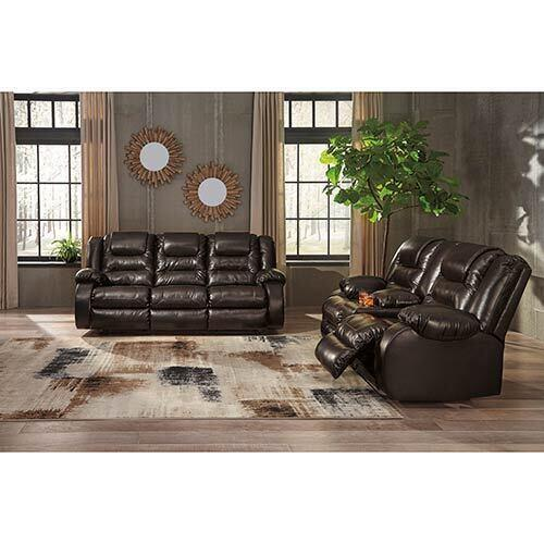 Signature Design by Ashley Vacherie-Chocolate Reclining Sofa and Loveseat